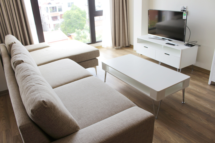 Recently finished serviced apartment To Ngoc Van street