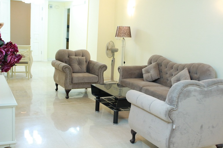 Modern three bedroom apartment, Ciputra Hanoi for rent.