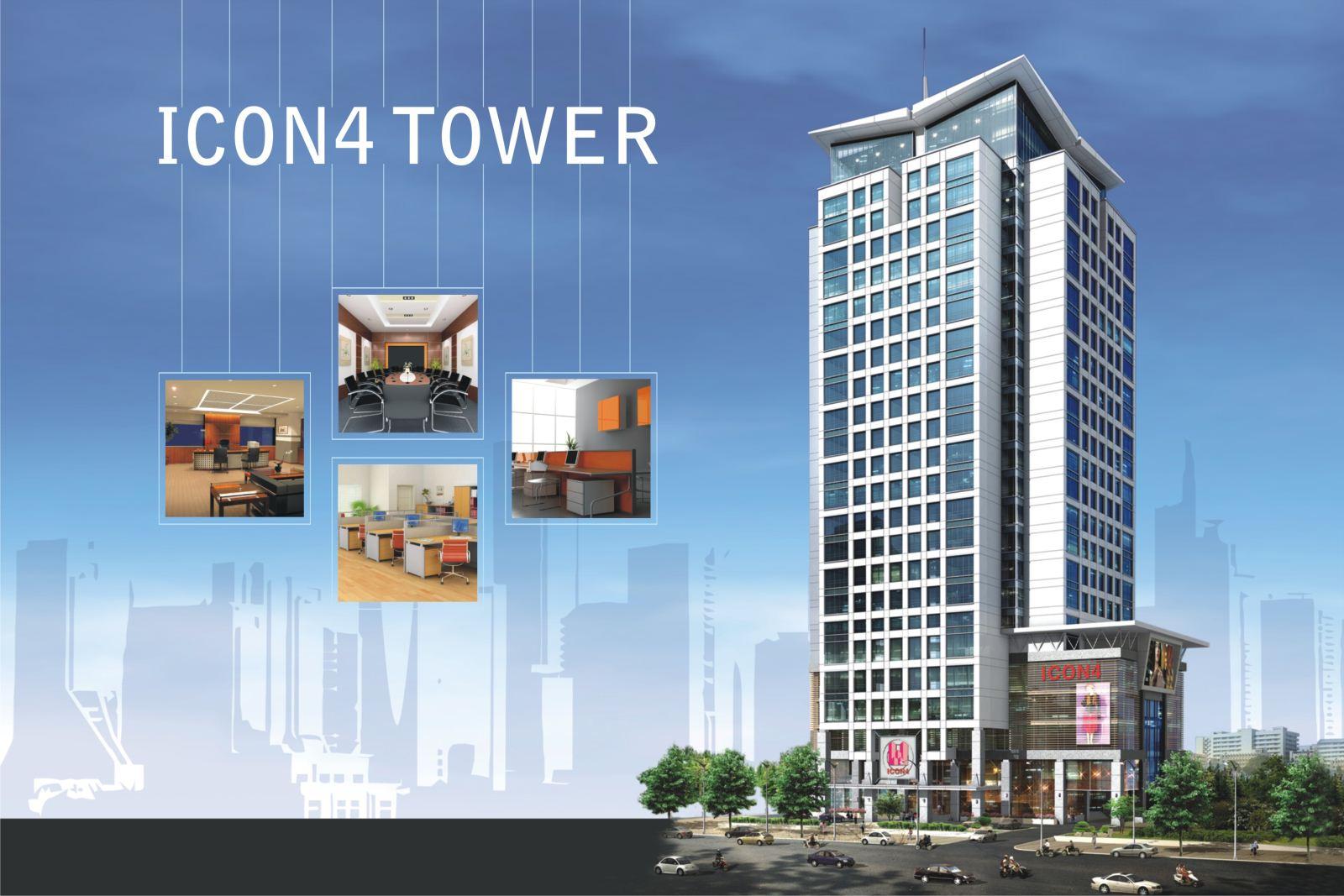 Cho thuê Văn phòng trọn gói – Tòa Nhà ICON 4 – 243 Đê La Thành