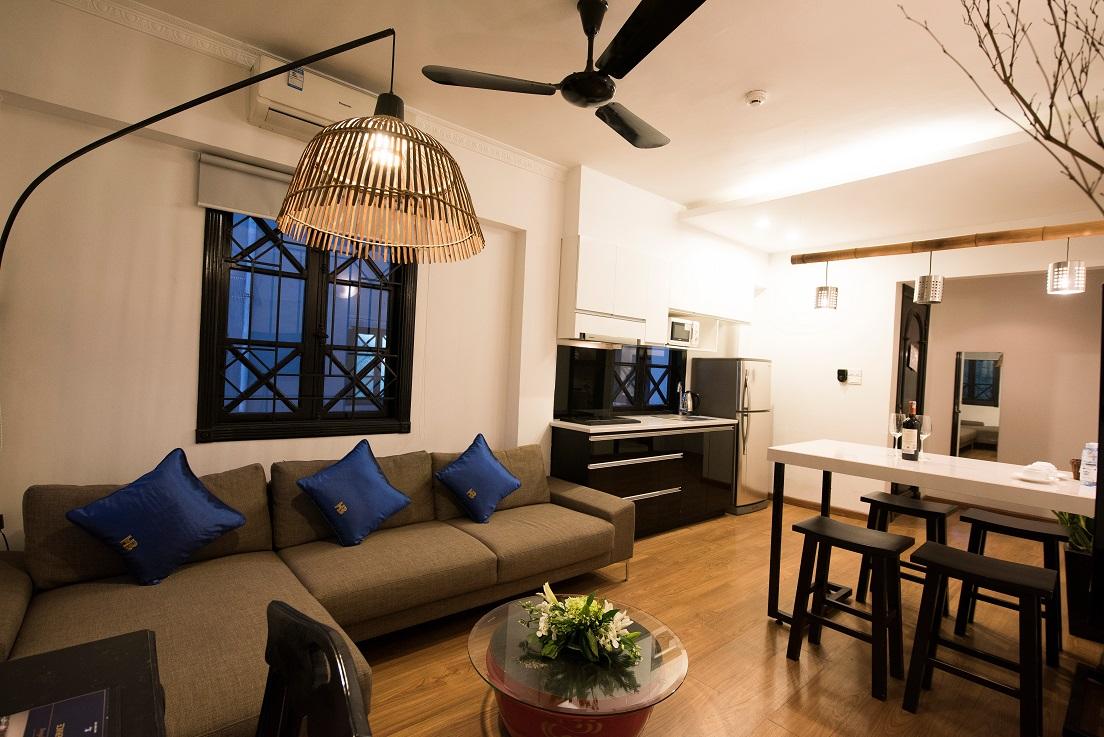 Cho thuê căn hộ 2 phòng ngủ gần hồ Hoàn Kiếm