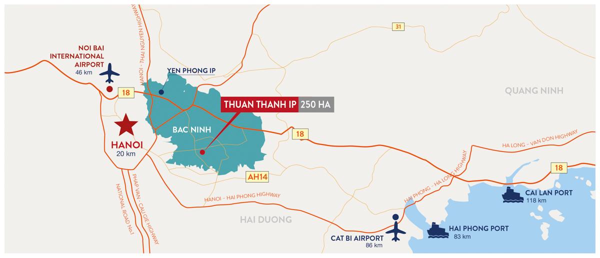 Khu Công Nghiệp Thuận Thành – Bắc Ninh